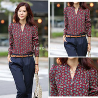 Casual Men Cotton Fashion dudalina woman Floral Chiffon Retro Totem Printed Sexy Slim Stand Collar Button Shirt Tops