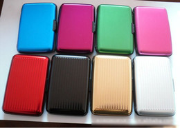 50PCS Aluminum Wallet Credit Card Cases Holder 8 Colors With White Box Free Shipping