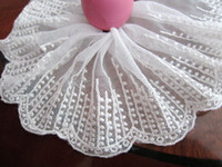 Wholesale Line Embroidered lace trim DIY doll sewing craft cm inch