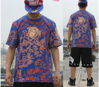 Wholesale 2014 New west coast Hip hop Men s Round collar short sleeves T shirt Tee