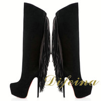 Wholesale Europe And America High Heels Leather Shoes Platform Shoes Formal Shoes Comfortable Shoes For Women Buy Shoes Online Tassels Fishing Boots