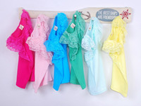Wholesale Children Tank Tops Girls Condole Belt Kids Summer Candy Color Casual Vests Sleeveless T Shirt Fashion Lace Princess Tank Tops Child Clothing