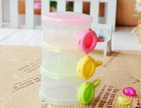 Wholesale Hot sale Safe Comfortable Portable three grid newborn baby milk powder box color box drawer Milk