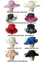 Kentucky Derby Hats organza church hats - NEW Design dress wedding bridal organza sinamay hat fascinator for Kentucky Derby Ascot church races by EMS