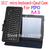 "7'' For Apple For Ipad 2/3 Hot selling new products for 2013 Original 10.1"" Micro Keyboard Case For pipo M9 10.1 inch tablet covers & cases Free Shipping"