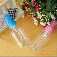 Plastic   50ml transparent packing bottle plastic spray bottle plastic bottle perfume bottle High-grade Refillable PET Bottle with Spray Pump