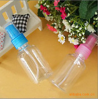 Wholesale F102 ml transparent packing bottle plastic spray bottle plastic bottle perfume bottle High grade Refillable PET Bottle with Spray Pump