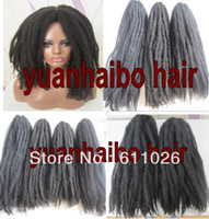 Wholesale Stock factory cheap price in b afro curl synthetic marley braid hair