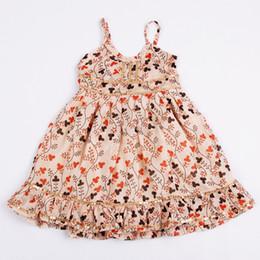 Wholesale 2014 New Arrival Summer Children Girls Cotton Flower Printing Braces Slip suspender Skirts Kids Tops Clothing ps H776