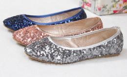 Wholesale 2014 hot sales Fashion Sequins Round Pumps Tendon at the end Casual shoes Pumps Boat shoes