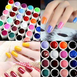 Wholesale 36Pots New Pure Colors UV Gel Nail Art Tips Shiny Cover Extension Manicure Decor amp