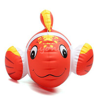 Unisex 0-12M Plastic Free Shipping Lovely Cute Animal Inflatable Air-Filled Swimming Pool Shower Clown Fish Toys For Baby Children Kids Birthday Gift