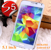 Wholesale Newest Perfect S5 I9600 SV Mobile phone Inch Android MTK6582 Quad Core GB RAM GB ROM Rear Camera MP x1080 Smartphone