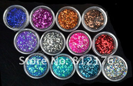 Wholesale Lowest Price Colors Metal Shiny Glitter Nail Art Tool Kit Acrylic UV Powder Dust Stamp BOX