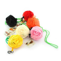 Wholesale 2014 new custom shopping bag Rose flower foldable shopping bag handle Bag many colors available WK140423