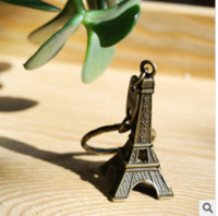souvenir keychain - couple lovers key ring advertising gift keychain Alloy Retro Eiffel Tower key chain tower French france souvenir paris keyring keyfob cut