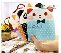 Wholesale Creative Dot bear animal cartoon style personality cartoon mouse pad mouse pad stylish slip