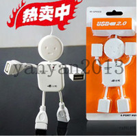 Wholesale Brand New USB HUB splitter humanoid villain delayed four expansion port hub S5Q Ports USB Hi Speed Geek Hub Splitter Adapter