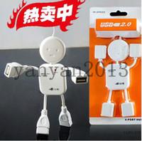 Wholesale Brand New USB HUB splitter humanoid villain delayed four expansion port hub S5Q Ports USB Hi Speed Geek Hub Splitter Adapter