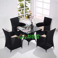 Wholesale Imitation rattan outdoor furniture rattan outdoor furniture rattan wicker chair direct combination of European export Balcony Lounge