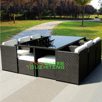 Wholesale Outdoor furniture chairs matching combination living room balcony terrace cafe bar imitation rattan garden leisure suit