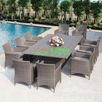 Wholesale Outdoor Furniture Garden Chair Set imitation rattan living room leisure hotel wine outdoor courtyard terrace Cafe
