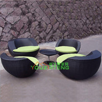 Wholesale Outdoor Garden sofa combination villa PE rattan chairs outdoor patio furniture exposed balcony cafe