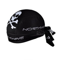 Wholesale Pirate NW Skull Skeleton Outdoor Sports Bicycle Scarfs Perspire Hats Cycling Caps Bike Riding Headbands Black and White