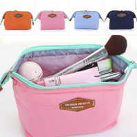 Cheap 2014 Cosmetic Bag in Bag Beautician Neatly Collect Storage Handbags Good Quality Nylon Cosmetic&Sanitary Napkin Organizer Bags