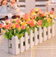 Pastoral Style Artificial Flowers Fences floral supplies - Pastoral Style Artificial Flowers Fences Floral Set Decorative Silk Flower Party Supplies SH884
