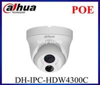 Wholesale Dahua IPC HDW4300C IP Camera MP POE P Full HD CMOS Network CCTV Security IR Mini Dome Waterproof Camera with Android Ipad