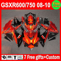 7gifts For SUZUKI GSXR600 Orange GSXR750 08- 10 GSXR 600 750 ...