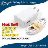 Wholesale wall Charger Adapter Micro Usb Data Cable with retail box For Samsung Galaxy S4 i9500 S2 S3 Note N9000