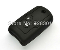 Car Remote Keys acura flip key - Black Silicone Key Case Cover Holder Protecting Bag Fit For Honda Acura Accord Odyssey CR V Buttons Flip Folding Key