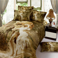 100% Cotton Woven Home NEW Promotion Sexy Goddess Marilyn Monroe Luxury oil painting 3D Bedding sets duvet Cover Bedspread set No comforter Wholesale Romantic