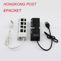 Wholesale High Speed PORT Switch Power USB HUB Extension Splitter Adapter Extender DATA SYNC ON OFF
