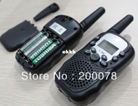 Wholesale pair walkie talkie radios T388 w walk talk range up to km black way radio walky talky PMR FRS LED flashlight