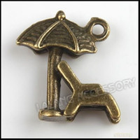 Trendy Fashion Charms 120pcs lot Antique Bronze Beach Chair Charms Zinc Alloy Pendants Jewelry Findings 18*17*5mm 140506