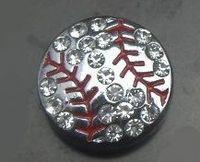 Wholesale High Quality mm rhinestone silver Baseball sport slide charm DIY jewelry findings