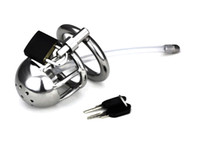 Male Catheters & Sounds  Male New Urethral Stretching chasity device with ring chastity lock