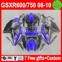 7gifts For SUZUKI GSXR600 GSXR750 blue black 08- 10 GSXR 600 ...