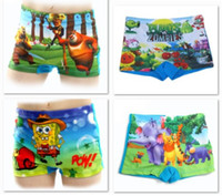 Boy Swim Trunks 9-12 Months Hot Sale Children Swimsuits Swim Short Pants Free Shipping Cartoon Boy's Trunks swimwear plants zombies