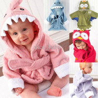 Unisex bathing bath clothing - Hot ColorBoy Girl Animal Baby Bathrobe Baby Hooded Bath Towel Kids Bath Terry Children Infant Bathing Baby Robe HoneyBaby Halloween clothe