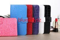 For Samsung S5 Crocodile Grain Black Crocodile Grain Wallet Card Slots Flip Leather Case Cover For IPhone 4 4G 4S 5 5S Samsung Galaxy S3 S4 S5 NOTE 3 2 Mercury wallet case