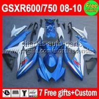 7gifts For SUZUKI GSXR600 GSXR750 08- 10 Factory blue GSXR 60...