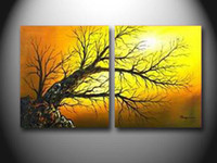 More Panel Oil Painting Abstract free shipping Pure hand-painted oil paintings home furnishing decoration painting the rising sun,CX432