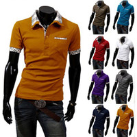 Men Cotton V_Neck POLO Free Shipping 2014 New Casual Men's Slim Fit Stylish Short Sleeve Shirts,M,L,XL,XXL XXXL[CM01015]