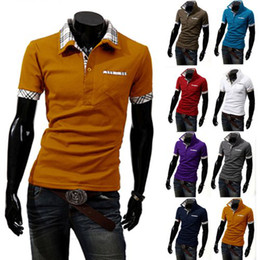 Wholesale plus Men s T shirt size POLO New Casual Men s Slim Fit Stylish Short Sleeve Shirts M L XL XXL XXXL CM01015