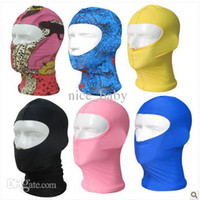 Wholesale Women Sunscreen Face Mask Spearfishing Diving Mask Anti UV Swimming Cap Diving Cap Defense Water Bug Bites Nylon Spandex