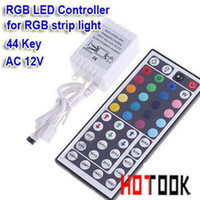 Dry Battery 12V RGB Controler IR LED Controller DIY RGB Remote Control wireless 12V 6A 44 Keys 44keys Adapter for 3528 5050 RGB LED Strip tiras Light CE RoHS